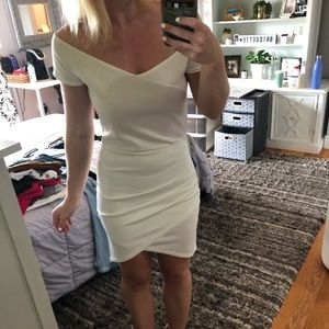 White tight invite dress
